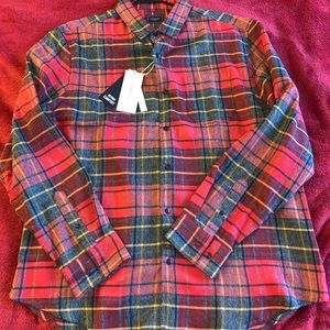 NWT 7 Diamonds Plaid Button Up Shirt